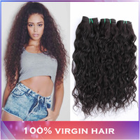 3pcs lot Water Wave Brazilian Virgin Hair Natural Wavy Hair Extensions Brazilian Wet and Wavy Human Hair Weaves Modern Show Hair