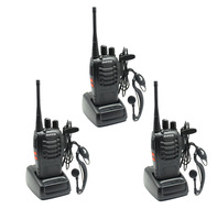 Free Shipping!3 pcs/lot BaoFeng 2 Way Radio BF-888S BF888S walkie talkie UHF 400-470MHz 16CH FM Transceiver CTCSS with earpiece