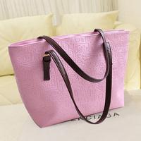 Women's bags 2014 women's handbag fashion embossed brief large bag  shoulder bag
