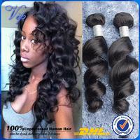 Brazilian Virgin Hair Loose Wave 4pcs Brazilian Human Hair Weave Bundles Virgin Brazilian Hair Loose Curly Hair Free Shipping