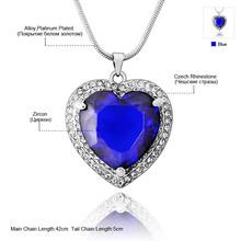 Neoglory AAA Zircon Rhinestone Alloy Platinum Plated Heart Love Necklace Pendants for Women Fashion Jewelry 2014