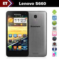 "Original Lenovo S660 mobile phone 4.7"" IPS QHD MTK 6582 1.3GHz 1GB RAM 8GB Android 4.2 WCDMA Dual Sim GPS 8.0MP Camera"