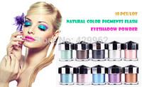 (10pcs/lot) 2014 Hotsale INSITI angel flash powder glitter eye shadow bright face powder makeup eyes