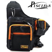 32*39*12CM iLure Black Fishing Bags Pesca Multi-Purpose Waterproof Polyester Fishing Bag Carp Fishing Reel Lure Tackle Bag Bolsa(China (Mainland))