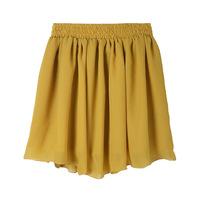 2014 Women chiffon short Skirt European Style High Waist Ball Gown Ruffles  Mini Short Women's Skirts