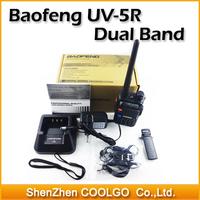 New BaoFeng UV-5R Two Way Radio Dual Band UV5R Walkie Talkie Vhf/uhf Transceiver FM Radio SOS Bright Flashlight Free Earphone