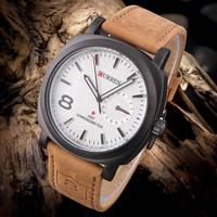 Fashion Casual Watch Analog Men's Wristwatch CURREN M-8139 Leather Strap Sports Watch Relogio Hours Quartz Hot Sale