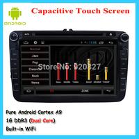 Android 8 inch VW Car Radio For Skoda Polo Jetta Tiguan Golf 5 6 Bora Touran Passat B6 CC dvd gps with radio Capacitive screen