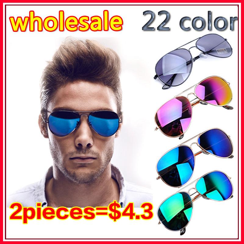 wholesale 22 colors 2014 fashion frog mirror sunglasses men & women glasses Brand Designer Vintage Unisex 1SU0100(China (Mainland))