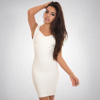 Free shipping Europe and United new 2014 women's Sexy  dress Bandage dressBandage tight toning package hip dress G159