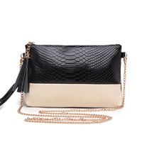 Hot Sale women handbag genuine leather bag tassel evening bags crocodile lady day clutches women messenger bags