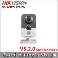 Free Shipping Hikvision DS-2CD2412F-IW ip camera 720p  1.3mp Home CCTV Support SD card  wifi  POE