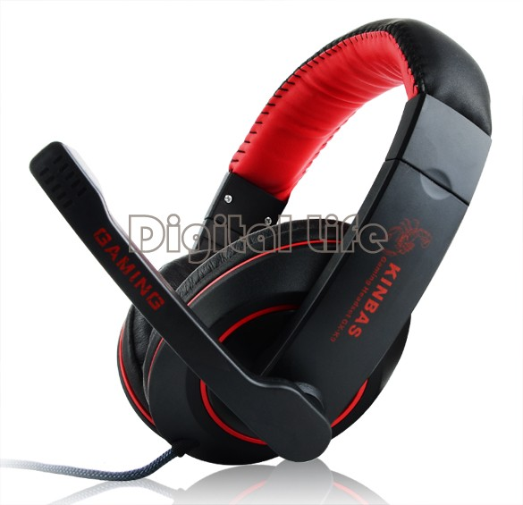 High Definition Noise Canceling Bass GK-K9 Stereo HiFi Gaming Headphone Headset For Computer With Microphone B2 SV000511(China (Mainland))