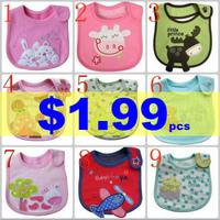 Cotton Baby Bibs Infant Baby Towels Carters Bibs Waterproof Bib Cartoon Burp Cloths Can Choose Models WZ13