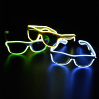 1pcs New white El cold light led Sunglasses blue a variety of 3 Model color lighting led glasses for parties