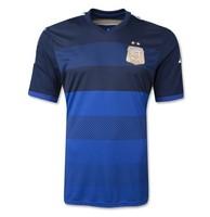 Free shipping 2014 argentina away Zero Version DI MARIA/KUN AGUERO/LAVEZZI/MARADONA/MESSI/MASCHERANO soccer jerseys printed logo