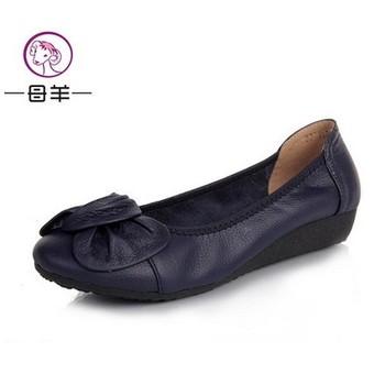 Горячая! Большой размер ( 34-43 ) обувь из натуральной кожи женщины 2014 осень обувь ...