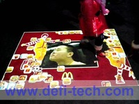 Magic interactive floor advertising system for show, 111 defferent interactive effects