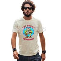 Breaking Bad Los Pollos Hermanost shirt Heisenberg shirts tshirt  Short Sleeve O- Neck Printing T Shirt For Men