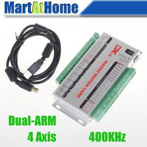 Upgrade XHC MK4 CNC Mach3 USB 4 Axis Motion Control Card Breakout Board 400KHz Dual-ARM Support Windows 7 #SM640 @SD(China (Mainland))