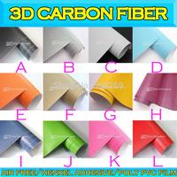 3D Carbon Fiber  Black Car Wrapping film Air Free 0.15mm 1.52mx30m /5ftx98ft