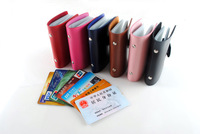 1pcs Free Shipping Men's Women Leather Credit Card Holder/Case card holder wallet Business Card Package PU Leather Bags
