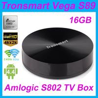 Tronsmart Vega Amlogic S802 Quad Core 2G Android TV Box 2.4G/5G Dual Frequency Band WiFi 2G/16G Mali450 GPU 4K HDMI Bluetooth PC