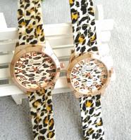 Fashion Geneva Watch Leopard Silicone Wristwatches Quartz  Ladies sport watch,women dress watches