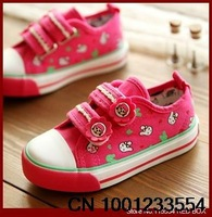 2014 spring and autumn child canvas shoes expert skills gluing low sweet girls shoes princess shoes single shoes BY0187