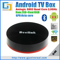New Beelink M8 Amlogic S802 Quad-Core Android TV Box 2G/16G 2.4G/5G Wi-Fi Octa-core GPU Bluetooth 4KX2K Android 4.4 kitkat XBMC