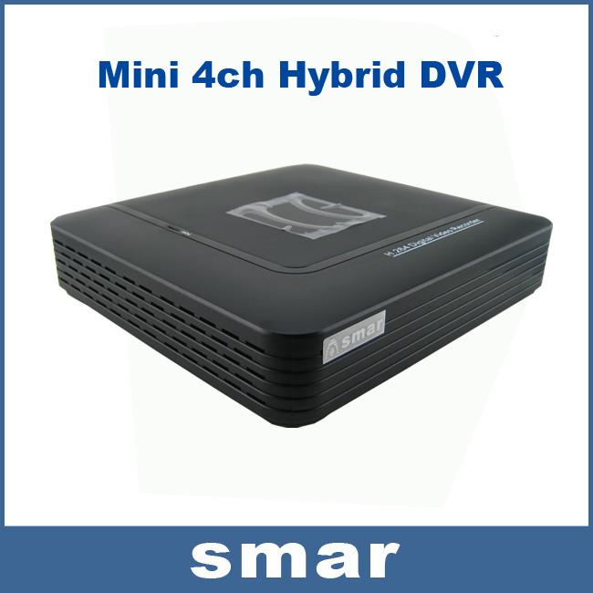 CCTV Mini DVR 4 Channel Full D1 Digital Video Recorder 8CH Hybrid HVR NVR System Onvif P2P H.264 Security Home EU Power Plug Hot(China (Mainland))