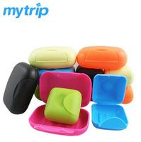 2014 Creative travel soap box leak-proof lid lock seal soap box for camping businesstrip +patent certificate soapbox