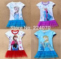 Frozen children girls tops t shirt children baby kids summer t shirt fashion and popular 2014 Frozen girls t shirt free shipping