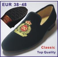 2014 Handmade Fashion Men Loafers Shoes Brand Men's Flats Wedding Shoes Mens Velvet Slippers Burgundy Party Loafer Size EU38-48