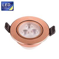 3W LED spot light Hole Size 70-75mm 330LM Aluminium Spot Lamp Rosy Golden cover AC100V-240V HUGEWIN UHSD654