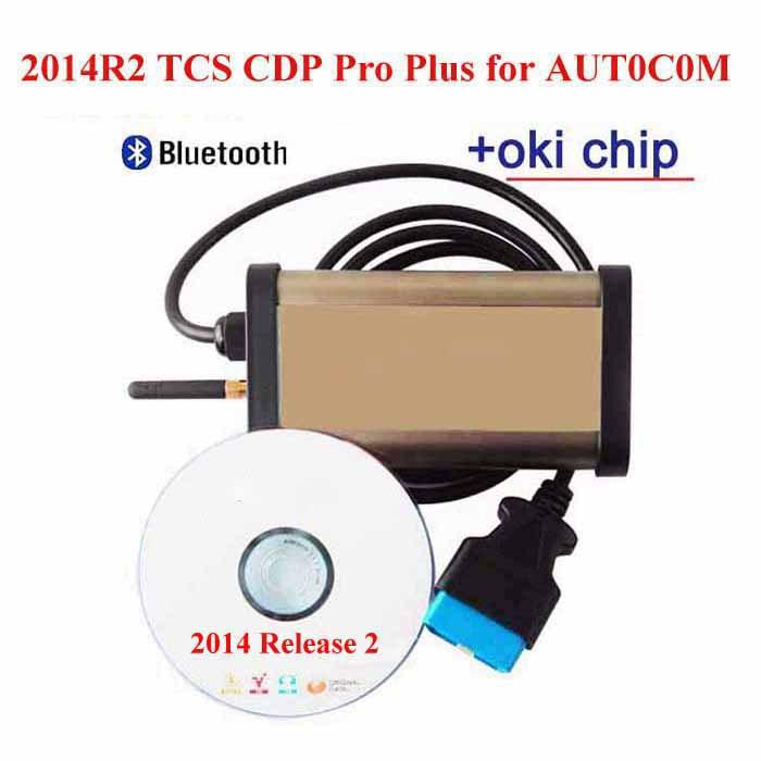 2015 Car diagnostic tool Tcs CDP Pro plus OKI Chip for Autocom Program+Keygen Bluetooth obd2 scanner for Cars / Trucks(China (Mainland))