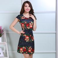 2014 summer  women's sleeveless tank dresses plus size  XL~5XL  18 colors available