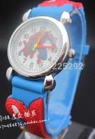 Free & drop Shipping 1pcs/lot retail red black kids 3D Cartoon Fashion silicone Children boys Quartz brand gifts Wristwatch
