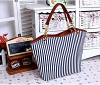 Fashion Women Handbag Stripe Canvas Bag Chain tassel tots Desigual bolsos Handbags Women Shoulder Bags Fringe Blue Red Black Bag