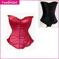 New Corset 2015 Sexy Women Lace Up Corset Strapless Waist Training Corsets Body Traning Women Bustiers & Corsets Tops 6