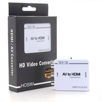 Hosim RCA AV to HDMI Converter Adapter Mini Composite CVBS to HDMI AV2HDMI Converter 720P 1080P
