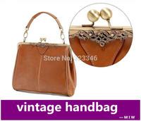Fashion Women's Tote Retro shoulder bag  PU Leather handbag women's messenger bag Europe style bags bolsas femininas freeship