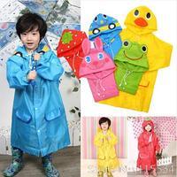 Free Shipping  Rain Coat children Raincoat Rainwear/Rainsuit Kids Waterproof Animal Raincoat Children's cartoon poncho OP0002