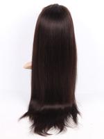 5A #2 Dark Brown 14-30 Inches Straight Full Lace Wigs Handmade 100% Brazilian Virgin Real man Hair Full Head Unprocessed