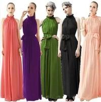 2014 new fashion Vestidos de fiesta lace spring Stand Collar Formal Pink dress Maxi summer Chiffon Long Plus Size autumn Dress