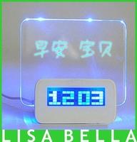 wholesale and large screen romantic message board creative alarm clock creative fashion wall clock LED electronic clock
