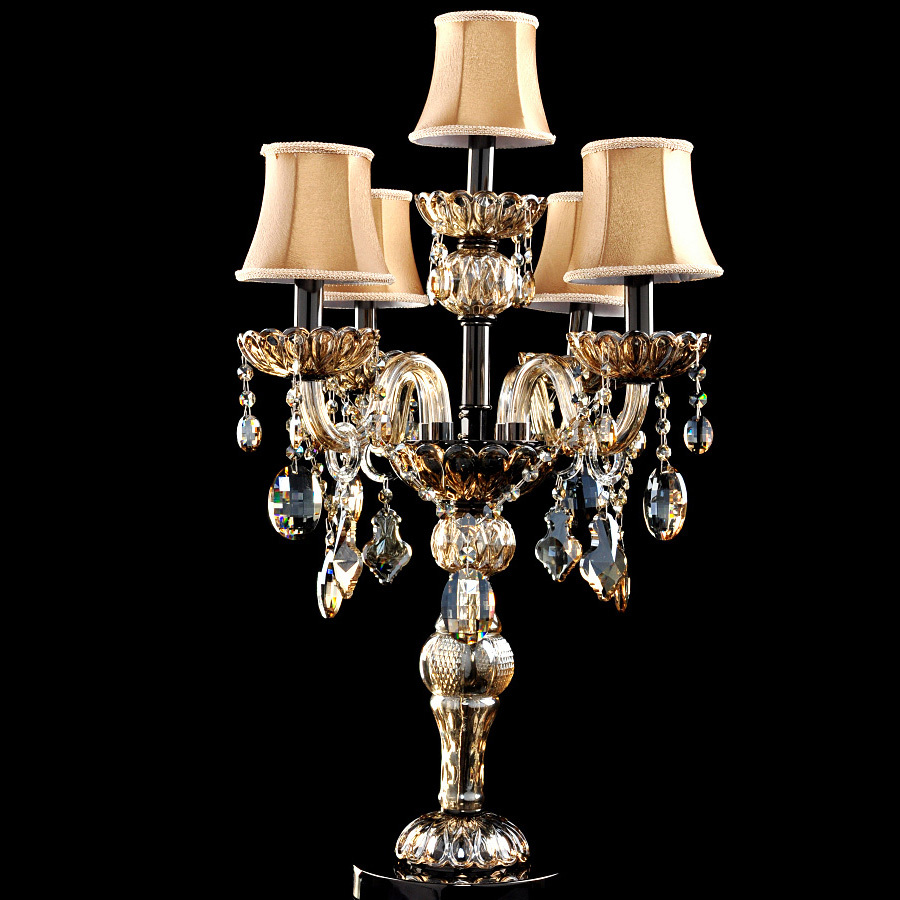 Italy dining room Led table lamp modern candle holder abajur crystal table light wedding candelabra light glass desk light(China (Mainland))