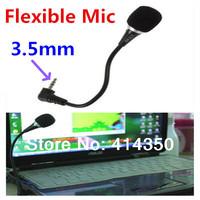 Free shipping Mini Flexible microfone Black Hands 3.5mm Mini Studio Speech Microphone For Computer PC Laptop Factory Price