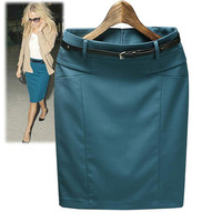 In stock new 2014 high waist skirt women's autumn summer slim hip casual pencil skirt plus size XXXL short skirt P039