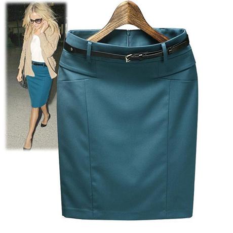 In stock new 2014 high waist skirt women's autumn summer slim hip casual pencil skirt plus size XXXL short skirt P039(China (Mainland))